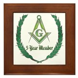 Masonic 5 year member award Framed Tile