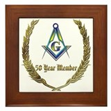 Masonic 50 year member award Framed Tile