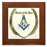 Masonic Mason of the Year award Framed Tile