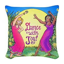 dancewjoysquareB.png Woven Throw Pillow