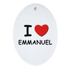 I love Emmanuel Oval Ornament