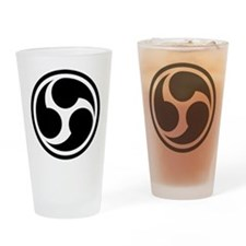 666 Triple Six (black) Drinking Glass