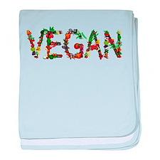 Vegan Vegetable baby blanket