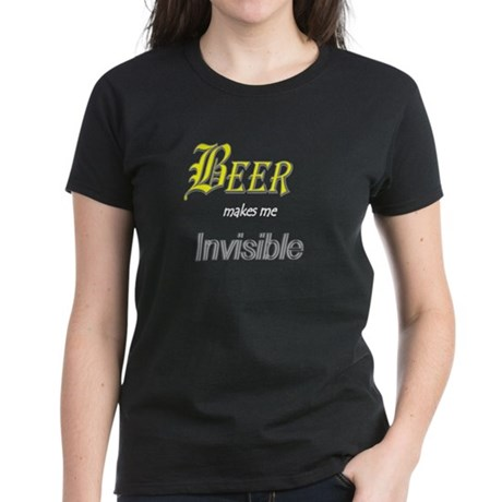 Invisible Beer Women's Dark T-Shirt