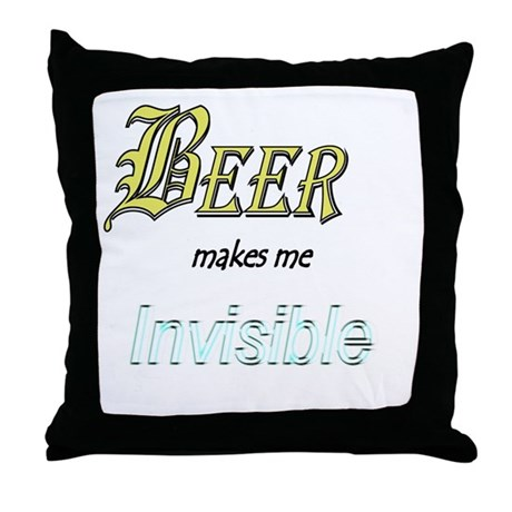 Invisible Beer Throw Pillow