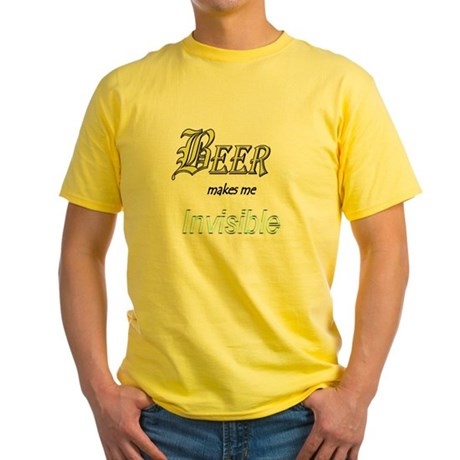 Invisible Beer Yellow T-Shirt