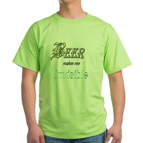 Invisible Beer Green T-Shirt
