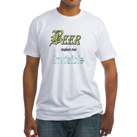 Invisible Beer Fitted T-Shirt