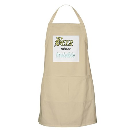 Invisible Beer BBQ Apron
