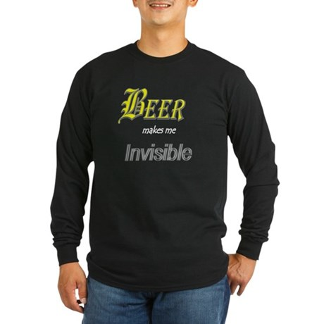Invisible Beer Long Sleeve Dark T-Shirt