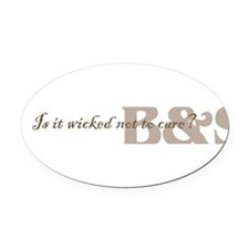 Cute Sebastian Oval Car Magnet