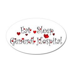 General Hospital heart eat sleep large Wall Decal