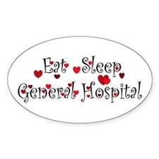 General Hospital heart eat sleep large Decal