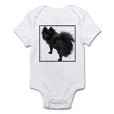 Black Pomeranian Infant Bodysuit