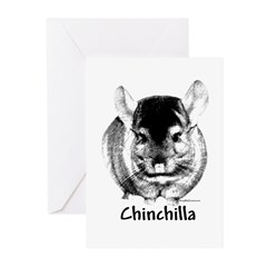 Chin Charcoal Greeting Cards (Pk of 10)