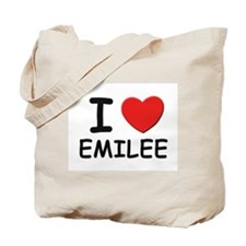I love Emilee Tote Bag