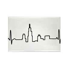 Chicago Heartbeat Rectangle Magnet