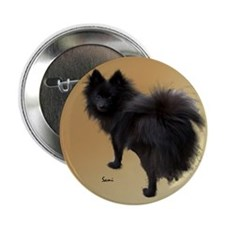 "Black Pomeranian 2.25"" Button (100 pack)"