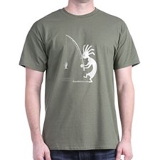 Kokopelli Fisherman T-Shirt