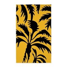 Tropical yellow palms 3'x5' Area Rug