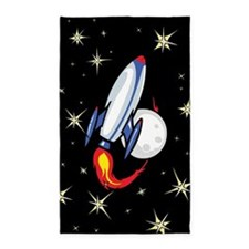 Space rocket 3'x5' Area Rug