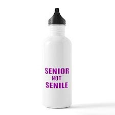 SENIOR NOT SENILE 2 Water Bottle