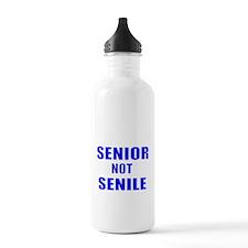 SENIOR NOT SENILE Water Bottle