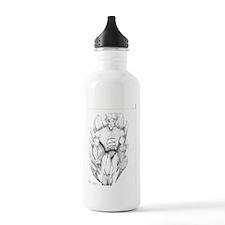 Eagle Man Original Drawing Water Bottle