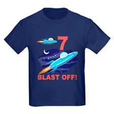 Outer Space 7th Birthday T