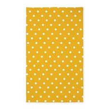 Yellow polka dot 3'x5' Area Rug
