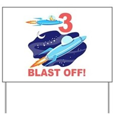 Outer Space 3rd Birthday Yard Sign