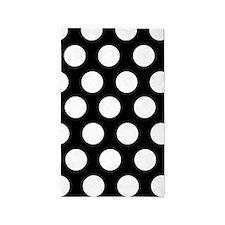 Black and white large polka dot 3'x5' Area Rug