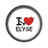 I love Elyse Wall Clock