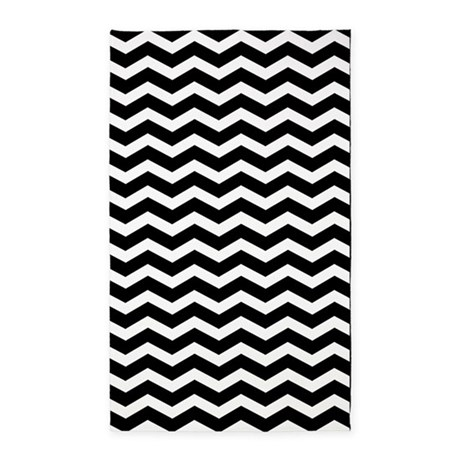 ... Gifts > Black Bedroom Décor > Black and white chevron 3x5...