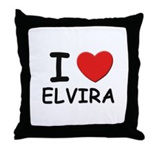I love Elvira Throw Pillow