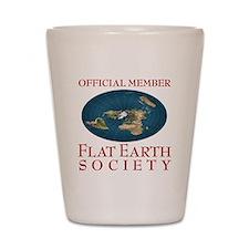 Flat Earth Society - Shot Glass