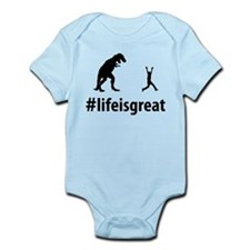 Run From Dinosaur Infant Bodysuit
