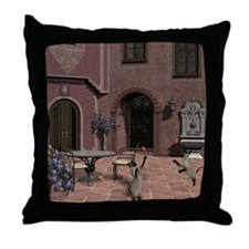 Quiet Courtyard Throw Pillow