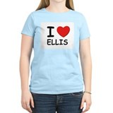 I love Ellis Women's Pink T-Shirt