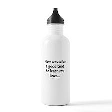 Learn my lines Water Bottle