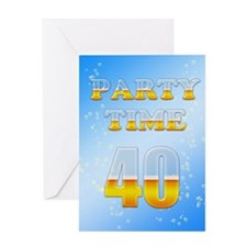 40th birthday party beer Greeting Card