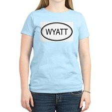 Wyatt Oval Design Women's Pink T-Shirt