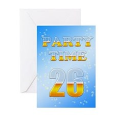 26th birthday party beer Greeting Card