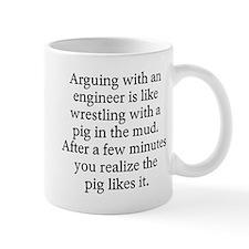 Arguing engineer Small Mug