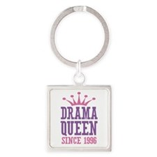 Drama Queen Since 1996 Square Keychain