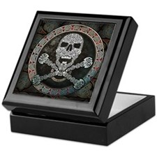Skull & Crossbones Knotwork Keepsake Box