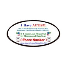 Personalized with Your Number Lost Child Tag Patch