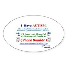 Personalized With Your Number Lost Child Decal