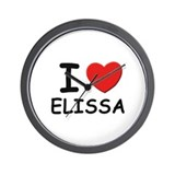 I love Elissa Wall Clock