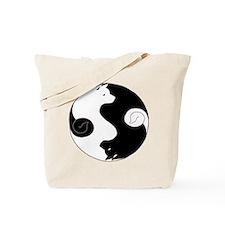 Ying Yang Akita Tote Bag